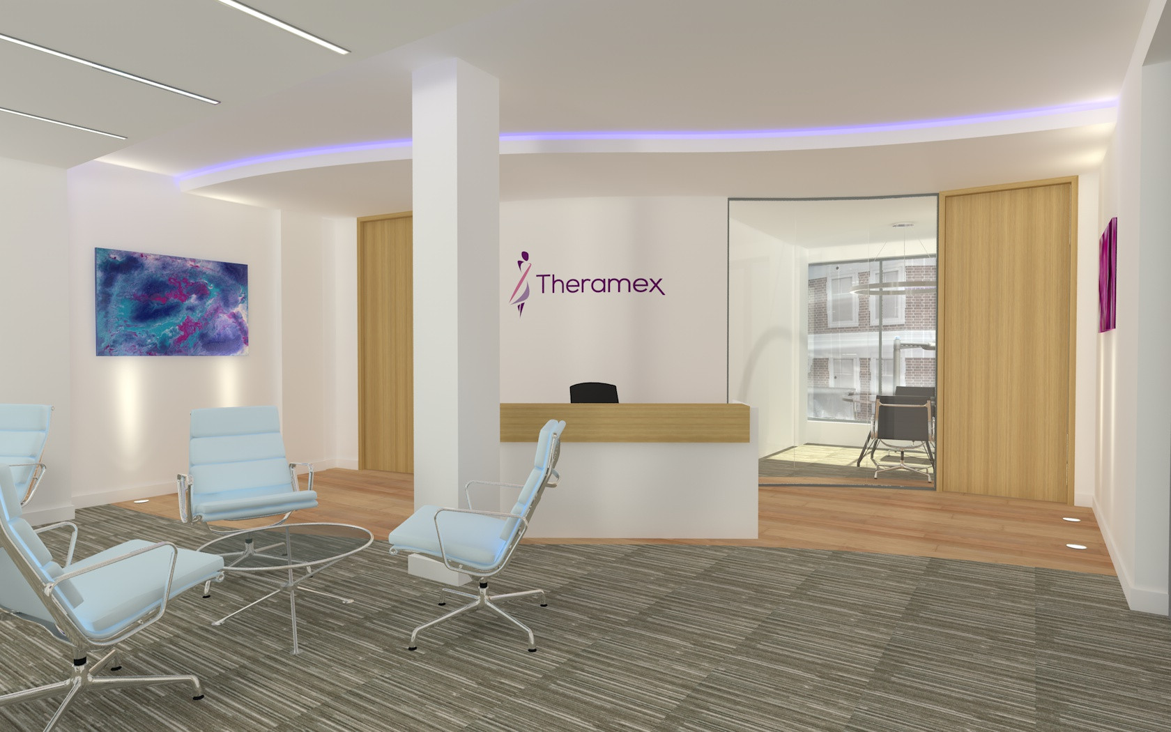 Reception Visual - London Pharmaceutical Client