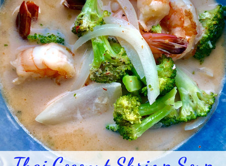 SOUP-ER simple thai coconut shrimp soup