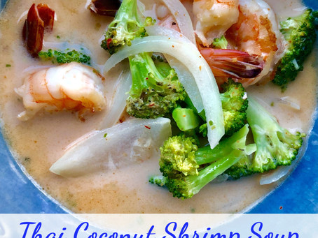 SOUP-ER simple thai coconut shrimp soup