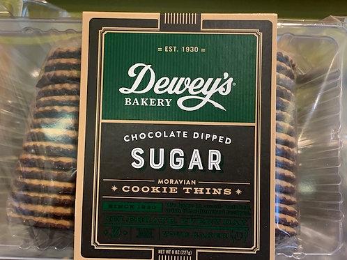 Dewey's Choc Sugar Moravian Thin Cookies