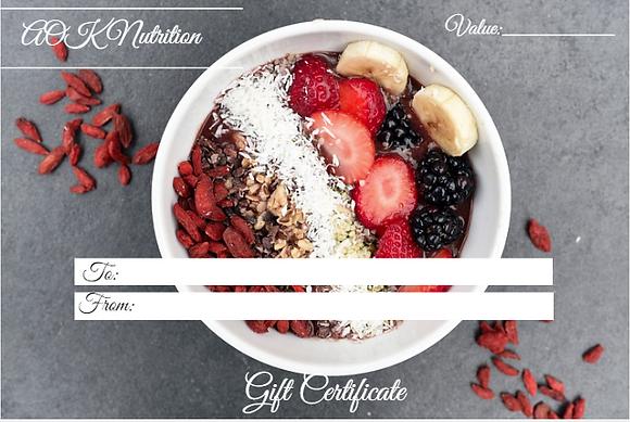 Nutritional Consultation Gift Voucher