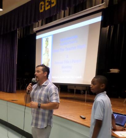 Principal Pete Johnson presents Title I Info