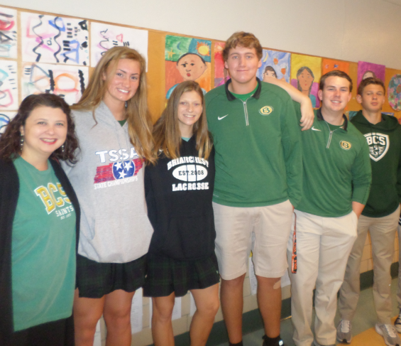 Briarcrest High School students visit Grahamwood and lend a helping hand!