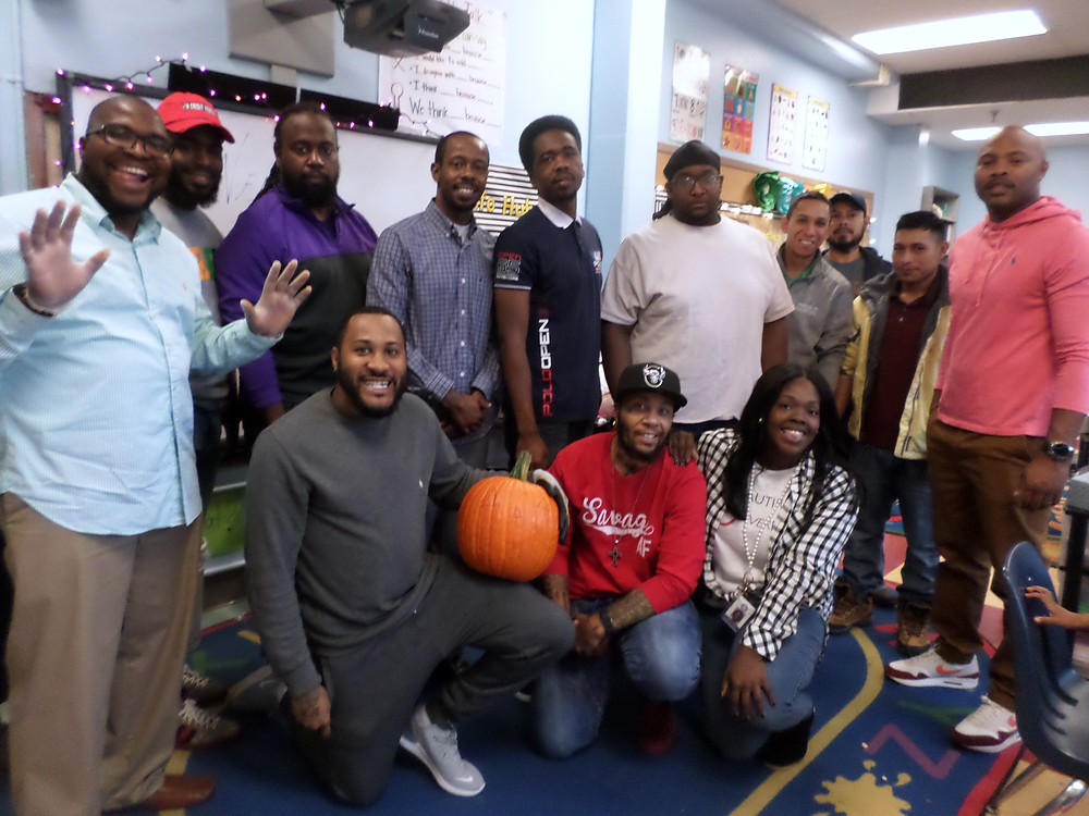 The Dads with 1st Grade Teacher Ms. Franklin