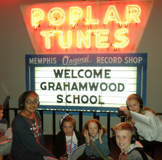 Grahamwood students discover (l-r) the Belz Musem, Handy Park & the Memphis Rock 'n' Roll Museum