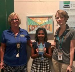 Medha receives her awards!