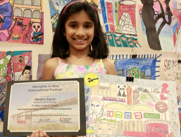Congrats to Medha Gajula for both of her art contest awards!