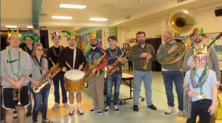 "Rhodes College Professors and Students ""Mardi Gras"" Band"