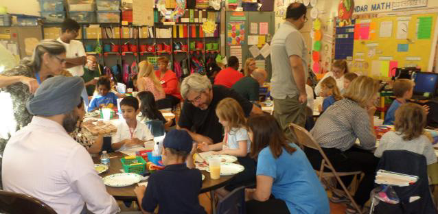Ms. Paris' students' enjoy breakfast and learning with their grandparents