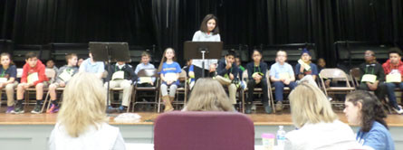 Students and Judges at Grahamwood Elementary's 2018 Spelling Bee