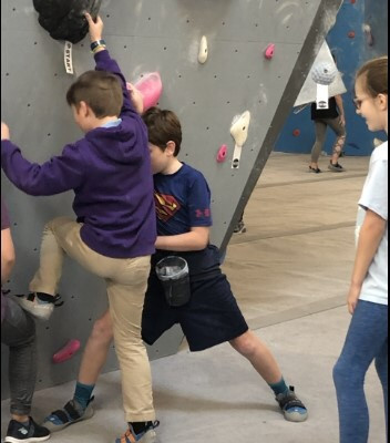 Grahamwood students develop character while Rock Climbing!