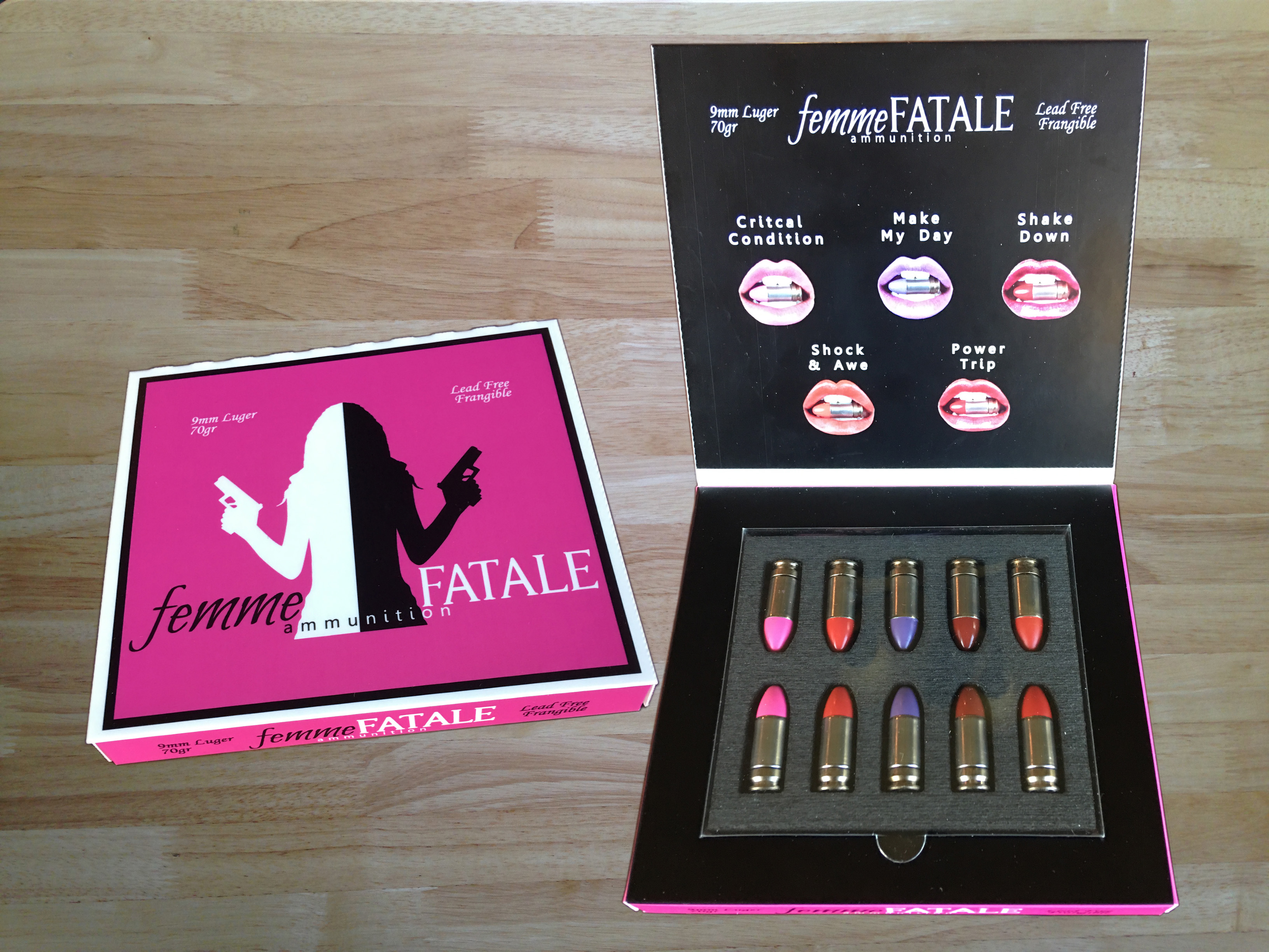 femmeFatale ammo packaging