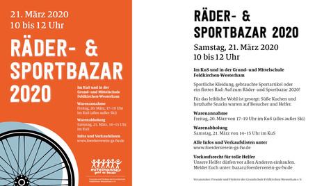 Räder- & Sportbazar Feldkirchen-Westerham 2020