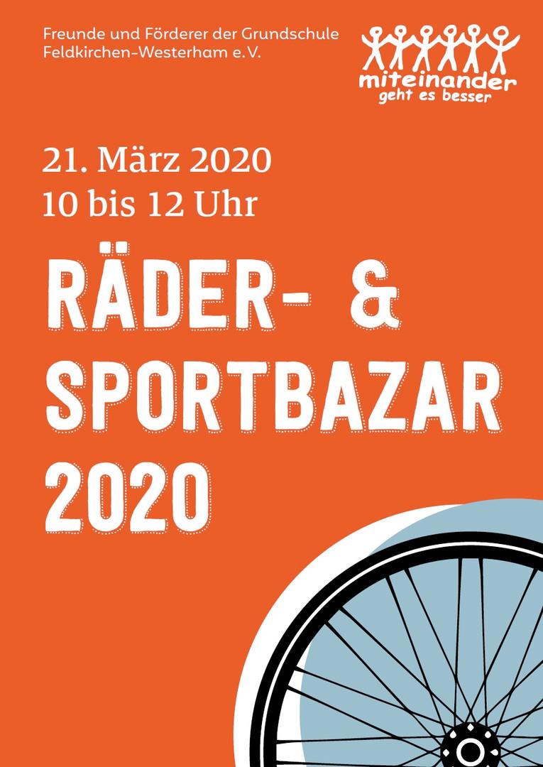 Plakat A4 Räder- & Sportbazar Feldkirchen-Westerham 2020