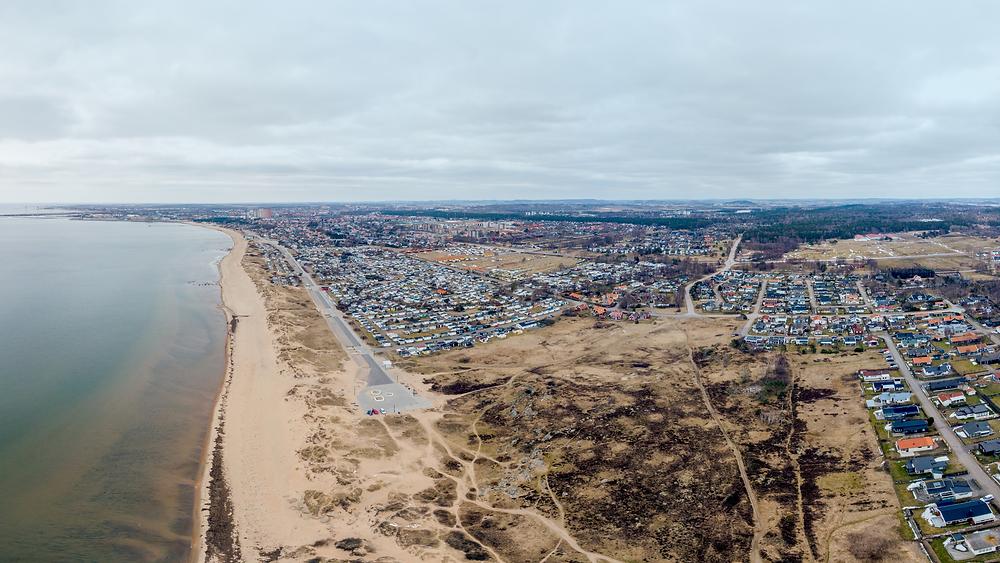 Skrea, Falkenberg. Stad, strand och hav.