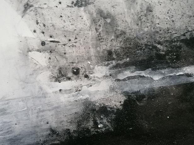 J kerr, Harridge Woods, studies of the strea, mixed media on paper