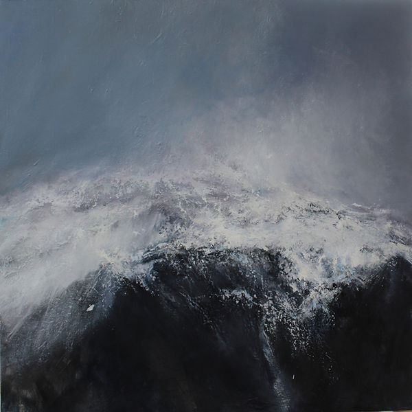 Falling, Hiorthfjellet. 130x130cm oil on