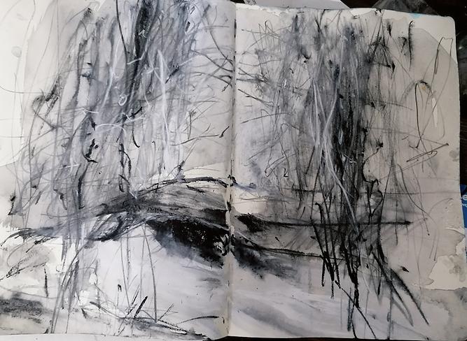 J Kerr Harridge Woods, sketch book study