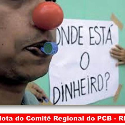 PCB - RR LANÇA NOTA À POPULAÇÃO SOBRE A CRISE FINANCEIRA QUE ESTADO VIVE ATUALMENTE