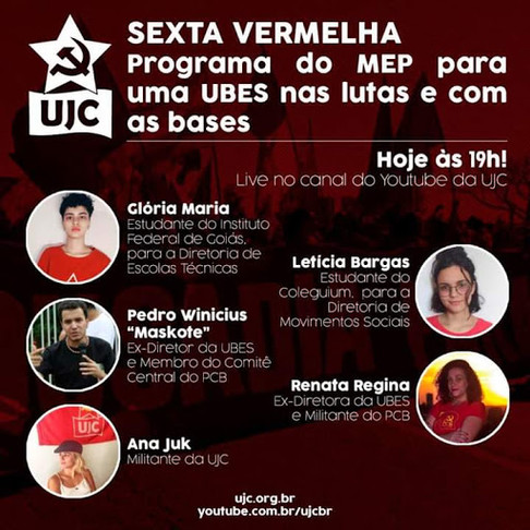 SEXTA VERMELHA: PROGRAMA DO MEP PARA UMA UBES NAS LUTAS E COM AS BASES