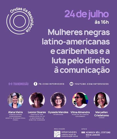 Live: Mulheres Negras, Latino-Americanas, Caribenhas e a luta pelo Direito à Comunicação