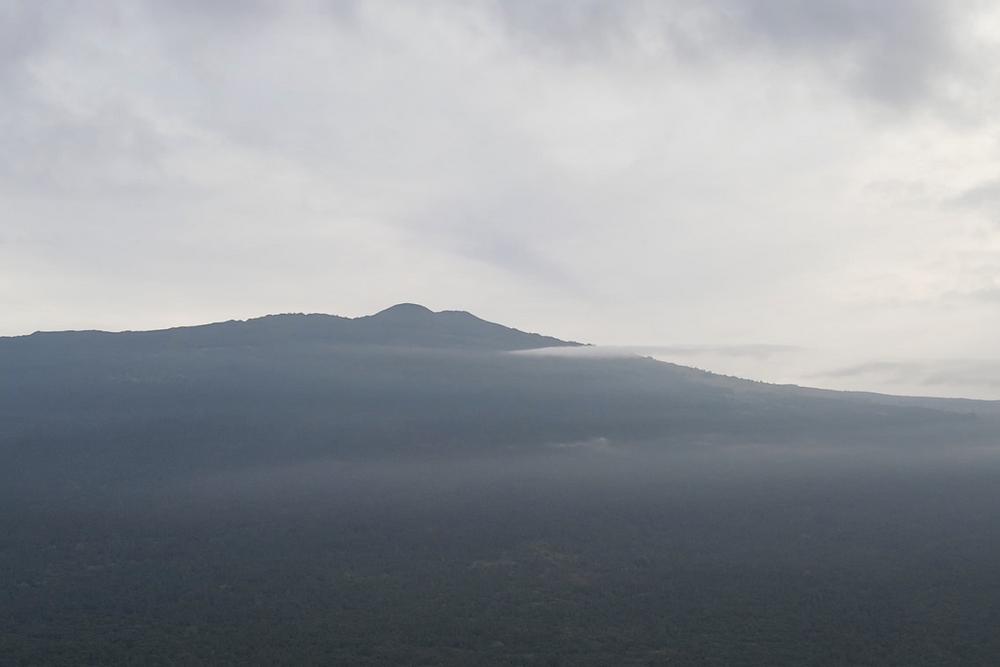 Ariel view of Hualalai volcano in Kona Hawaii