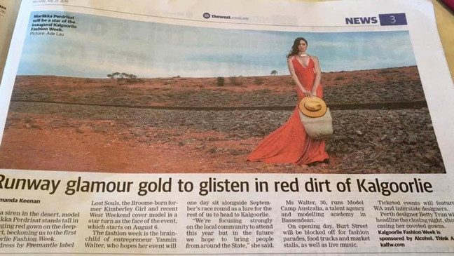Runway glamour gold to glisten in red dirt of Kalgoorlie [The West Australian]