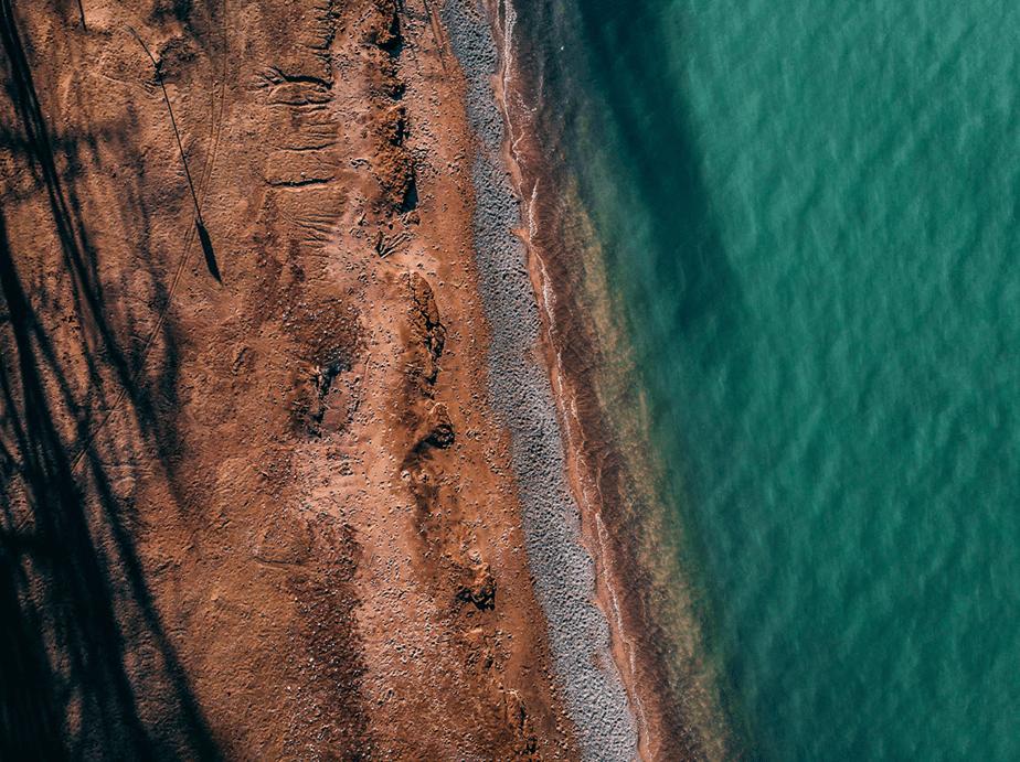 lake ontario shore aerial view