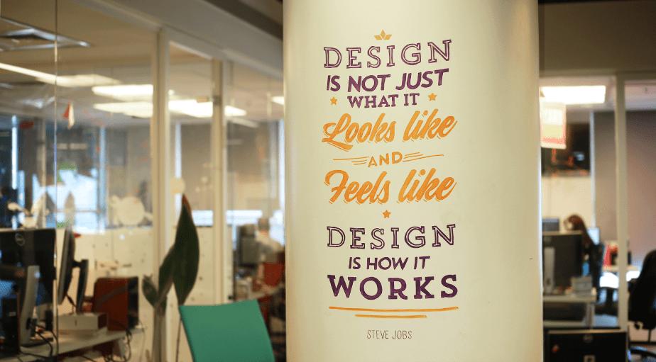 Wix Office Art - Steve Jobs Quote