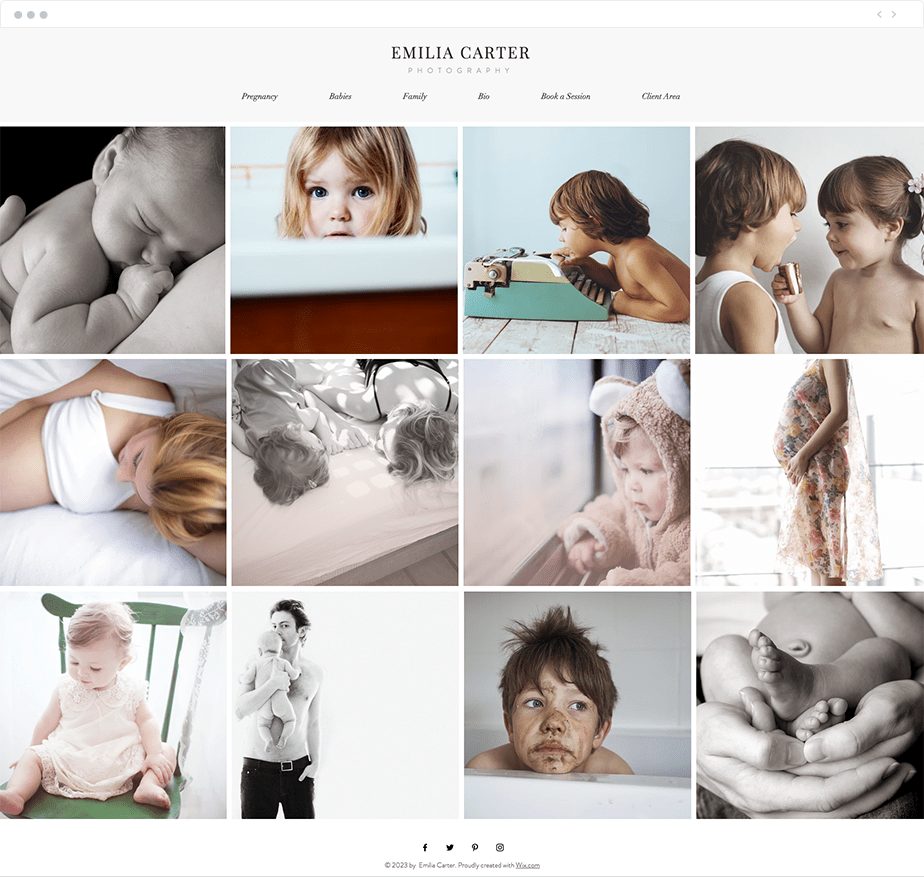 family photographer website template