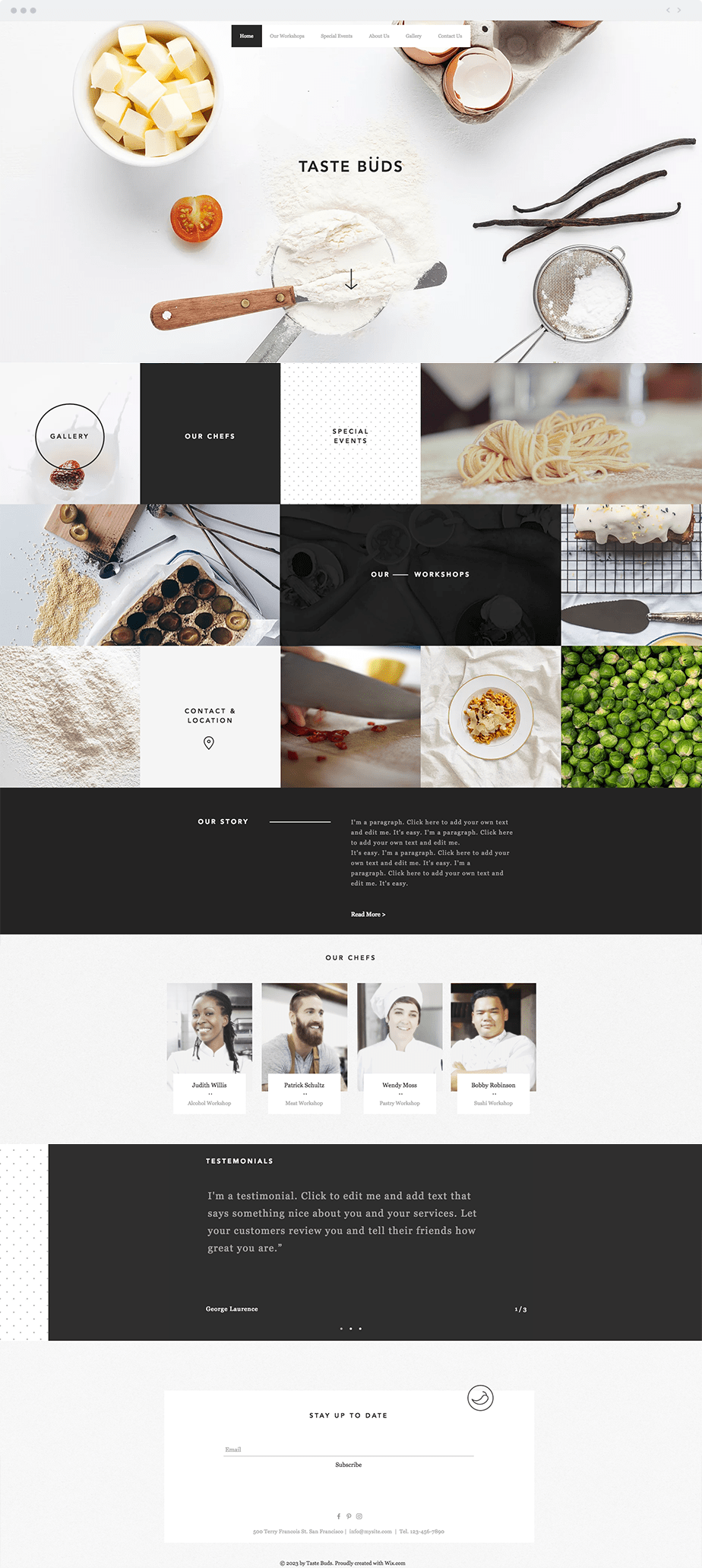 Wix Template - Cooking School