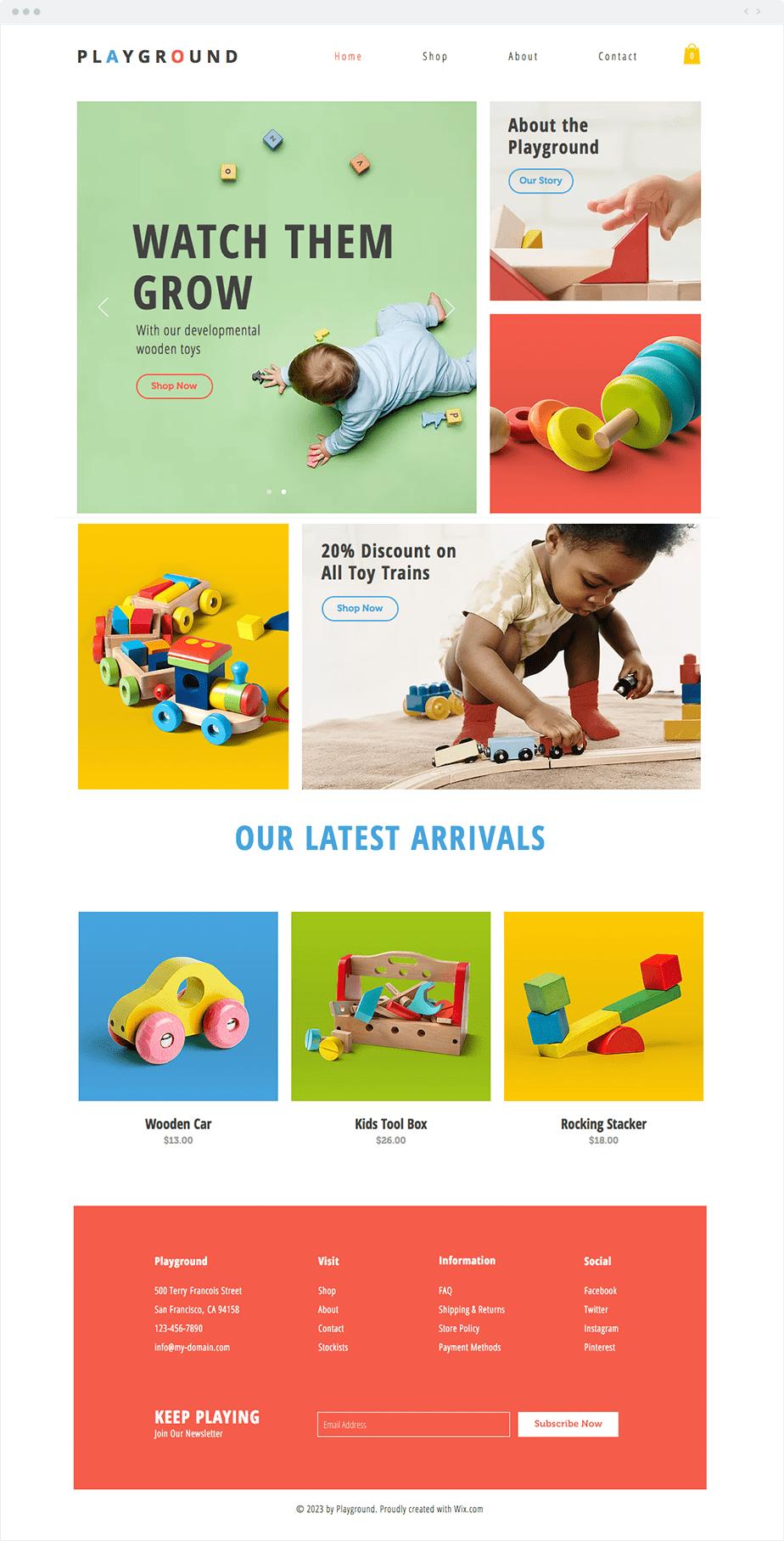 Plantilla Toy Store