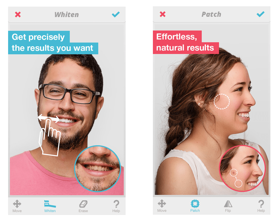 Screenshot of Facetune app