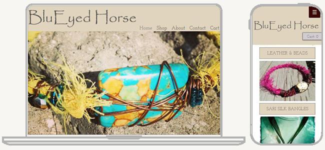 BluEyed Horse のWixサイト