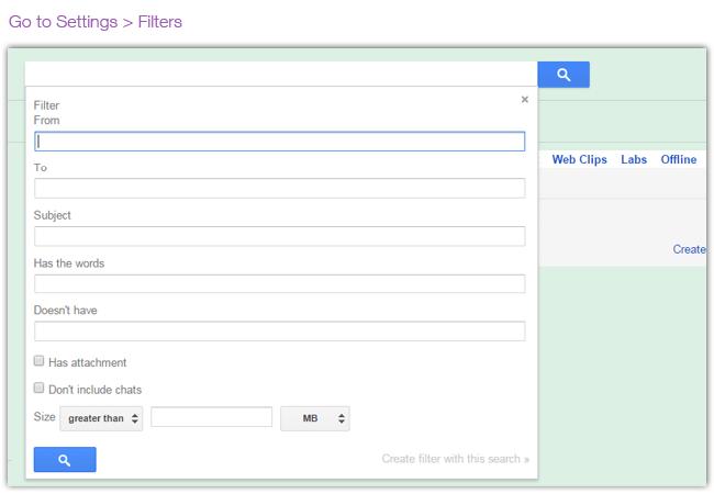Filter Your Inbox