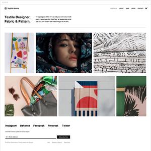 テキスタイルデザイナー向けホームページテンプレート