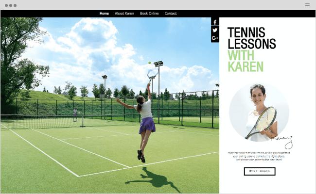Tennis Lessons Website