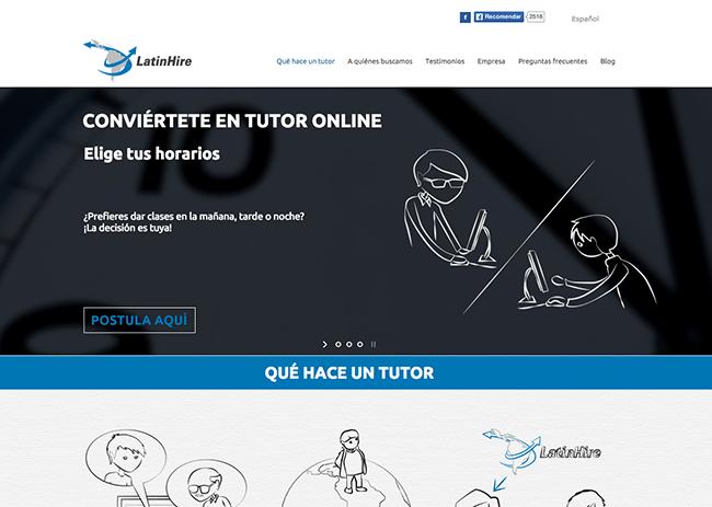 Captura de Pantalla de la Página Web Latin Hire