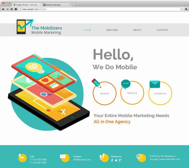 テンプレート「Mobile Marketing」