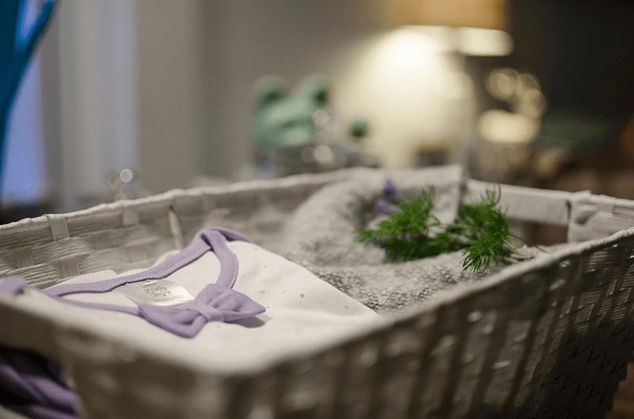 fresh laundry basket