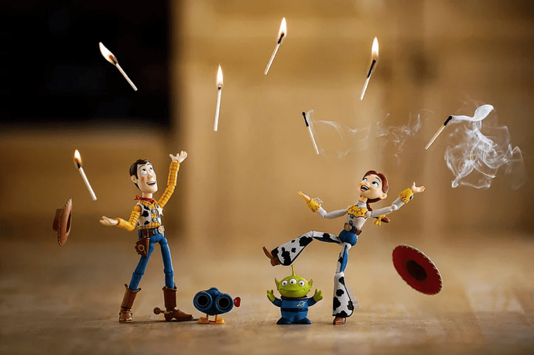 Andy, Jessie, Alien - Toy Story