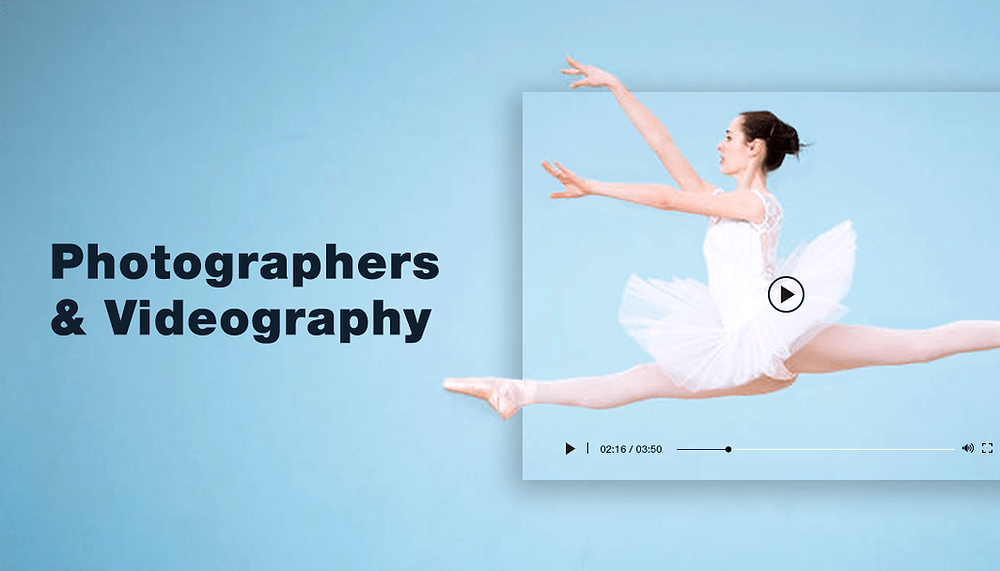 ballerina dancing on a blue background