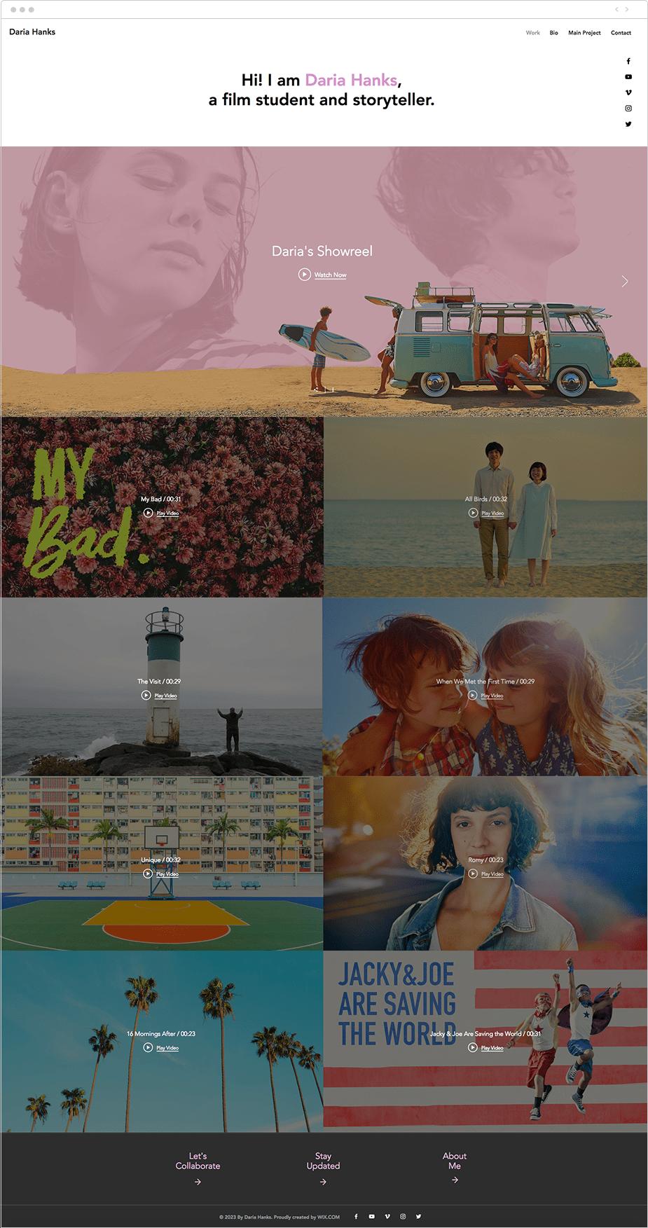 Film student template
