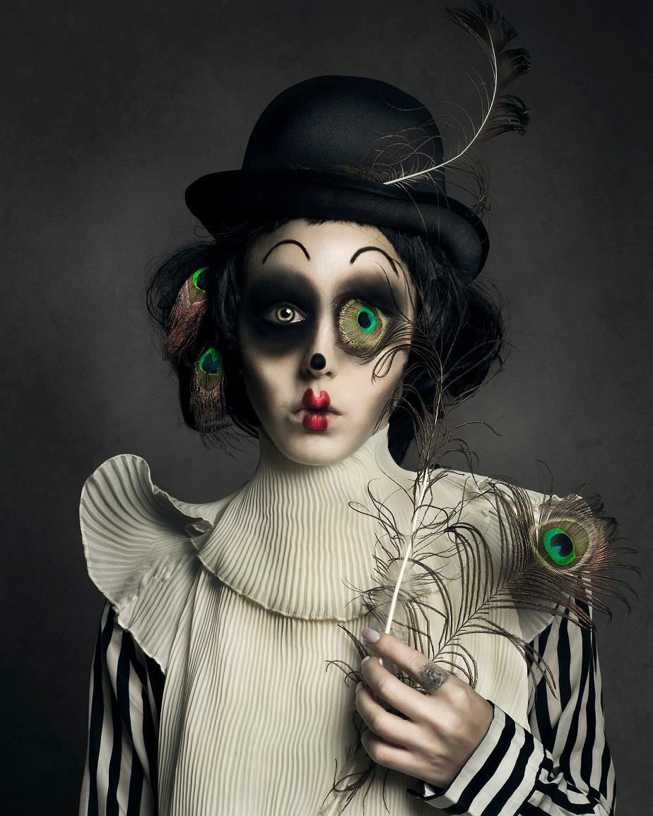 Self-portrait of sad clown by Wix photographer Juliette Jourdain