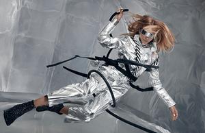 model stav strashko floating in zero gravity