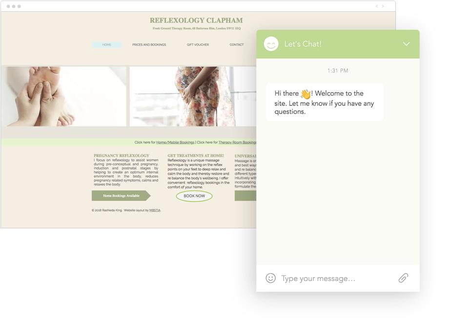 Wix Chat crea una relación más personal e inmediata con los visitantes