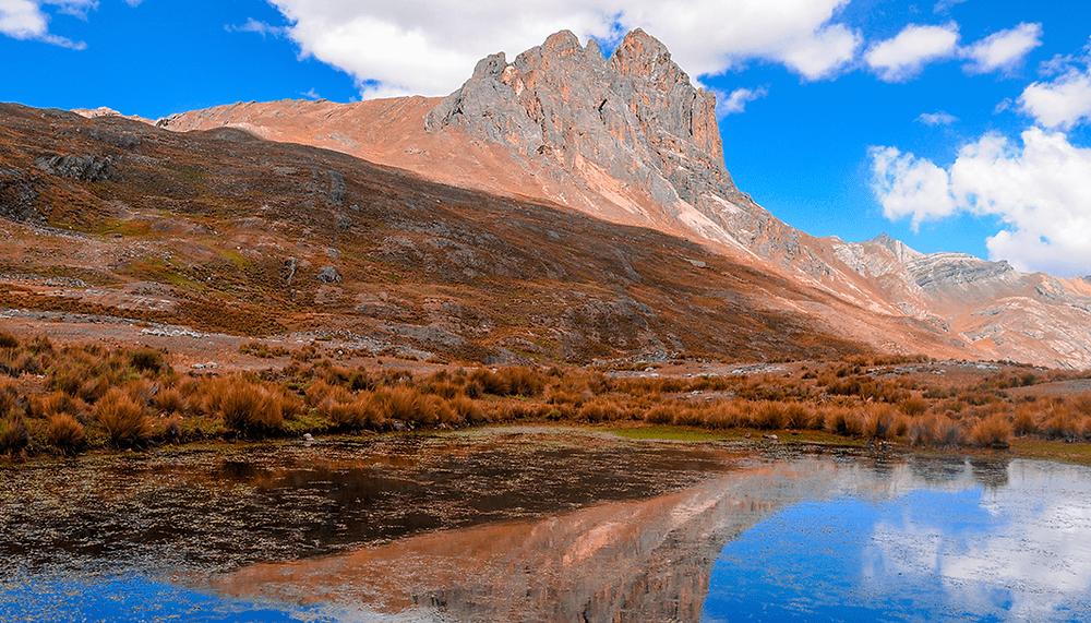 rocky mountain reflected on lake
