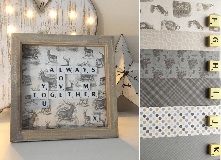 Wix Mother's Day Gift Idea: Pinterest Inspired Scrabble Letter Art