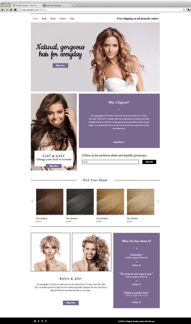 Wix - Luxury Hair Extensions