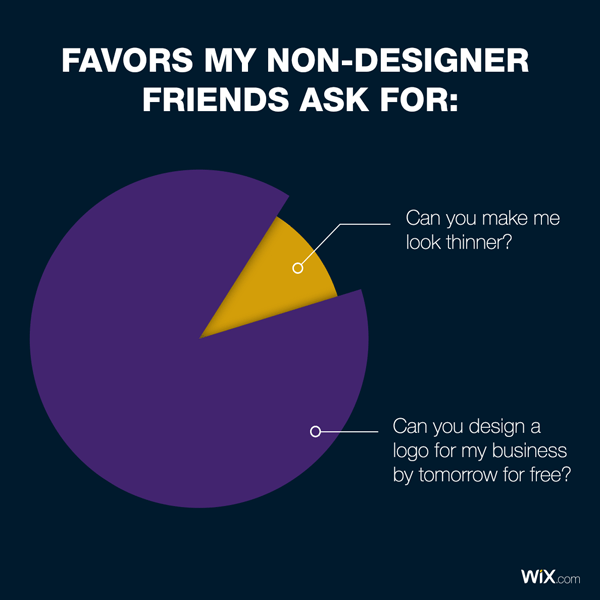 graphic design jokes about favors from non-designer friends